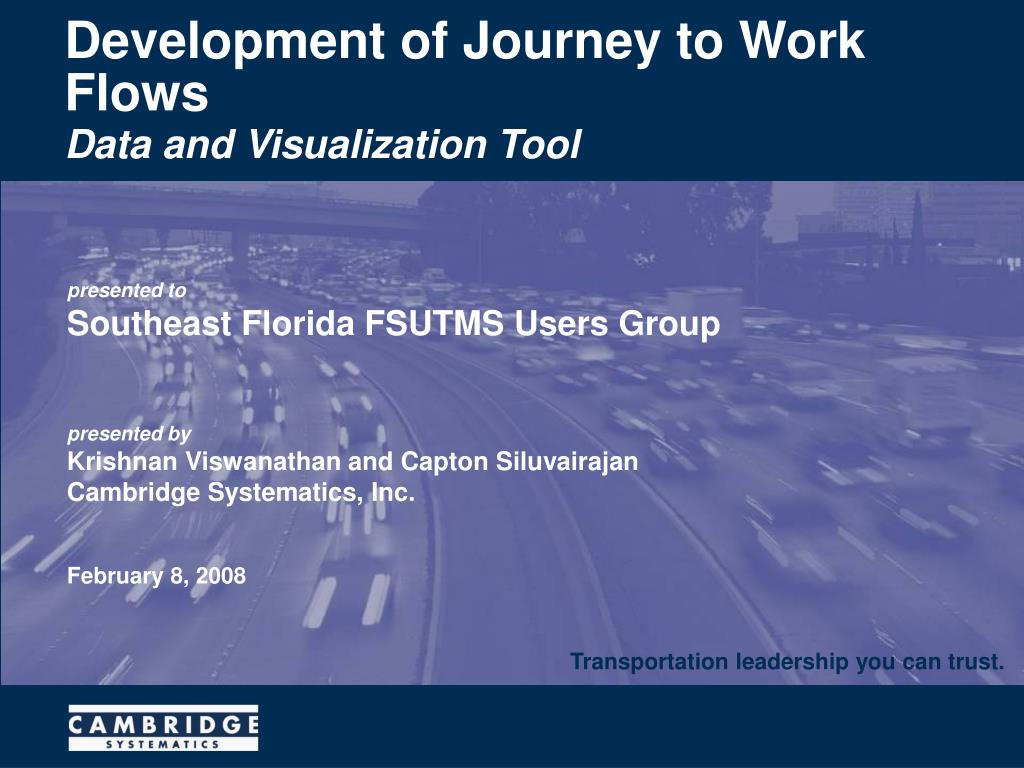 development of journey to work flows l.