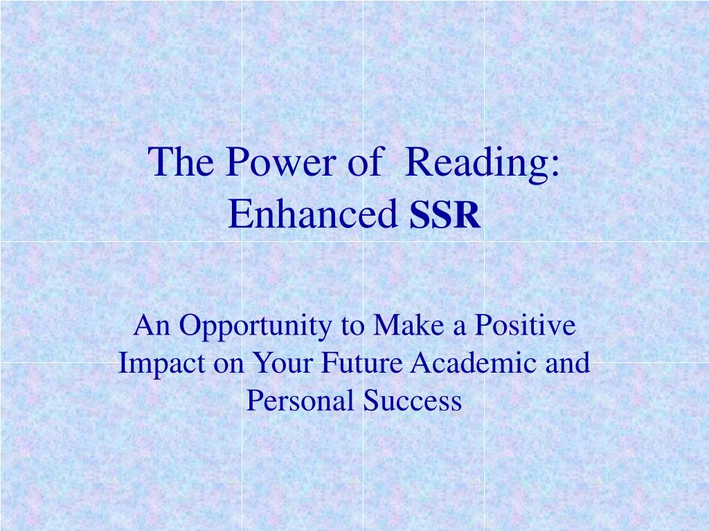 the power of reading enhanced ssr l.