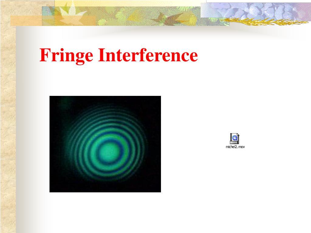 Fringe Interference
