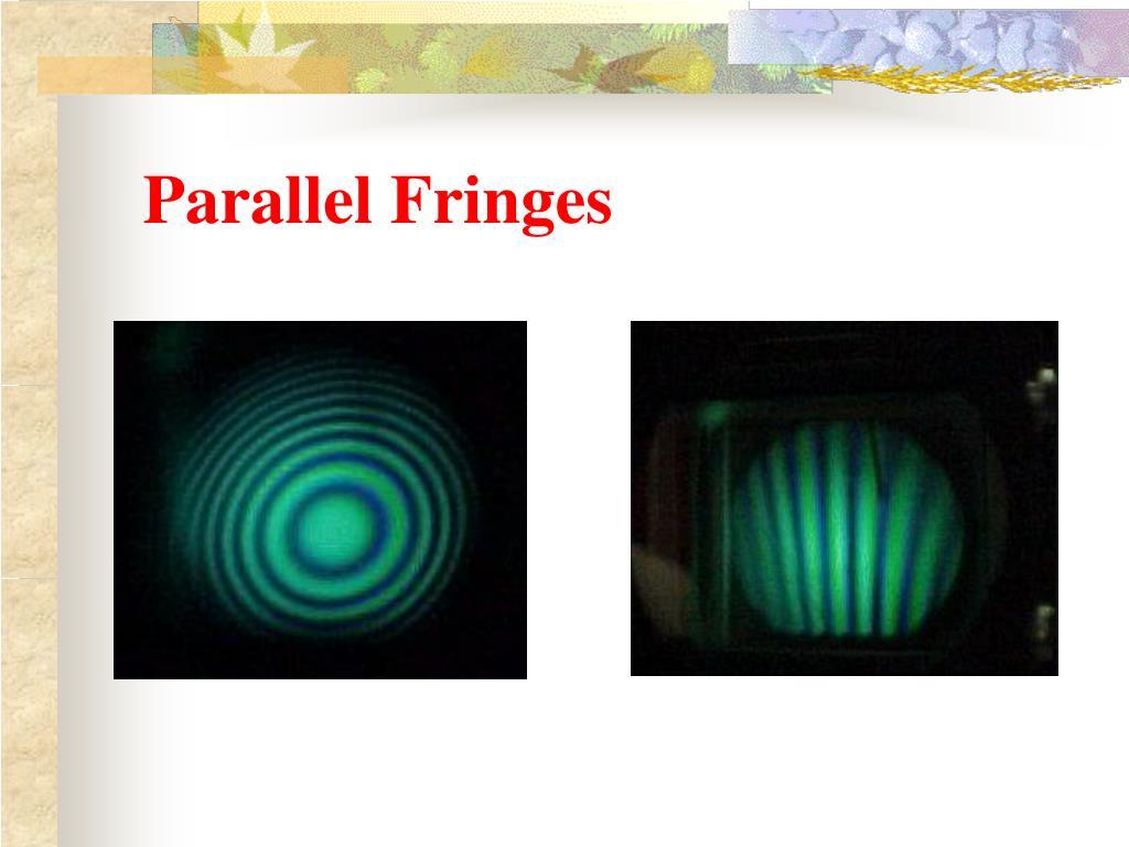 Parallel Fringes