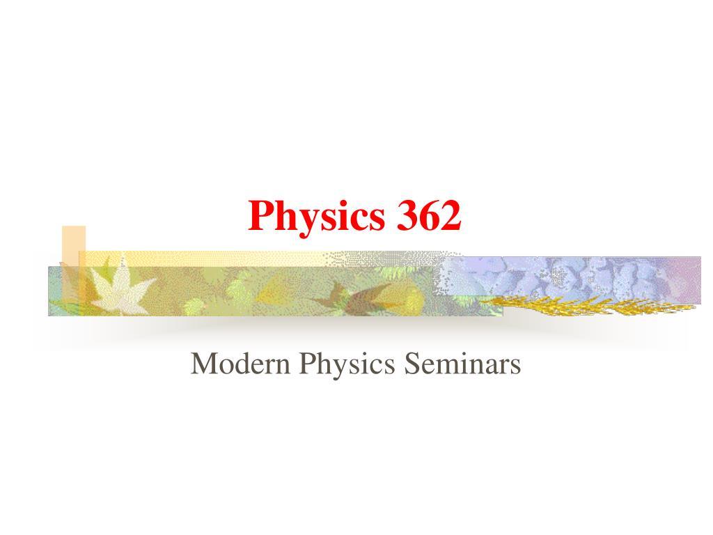 physics 362 l.