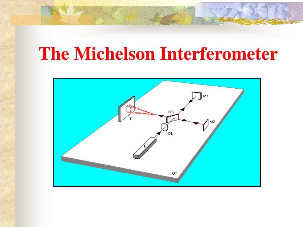 The Michelson Interferometer