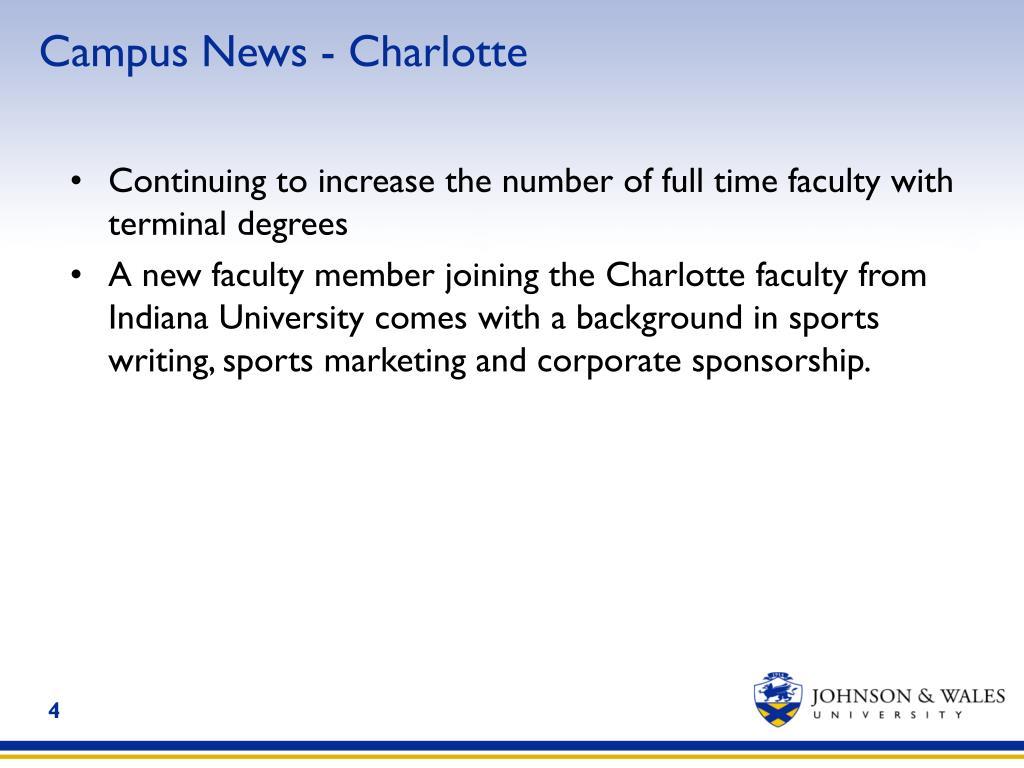 Campus News - Charlotte