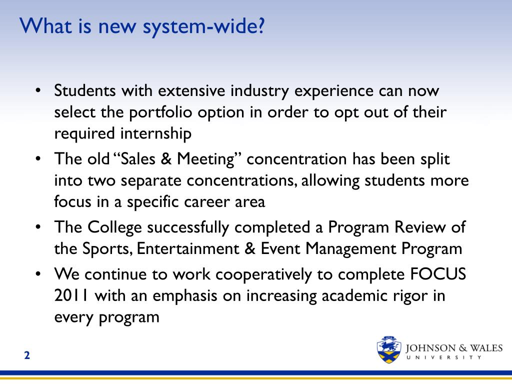What is new system-wide?