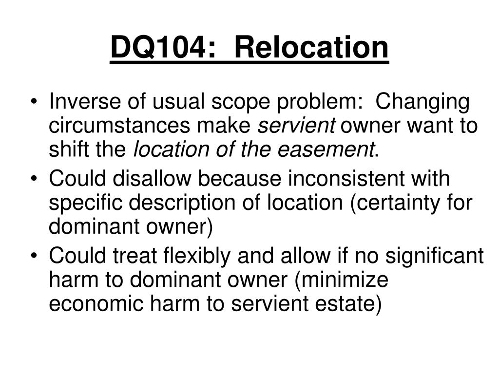 DQ104:  Relocation