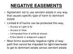 negative easements