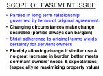 scope of easement issue
