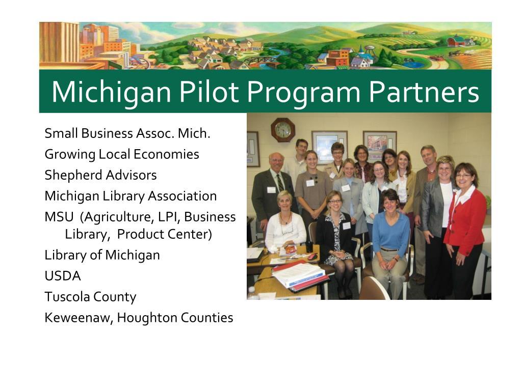 Michigan Pilot Program Partners