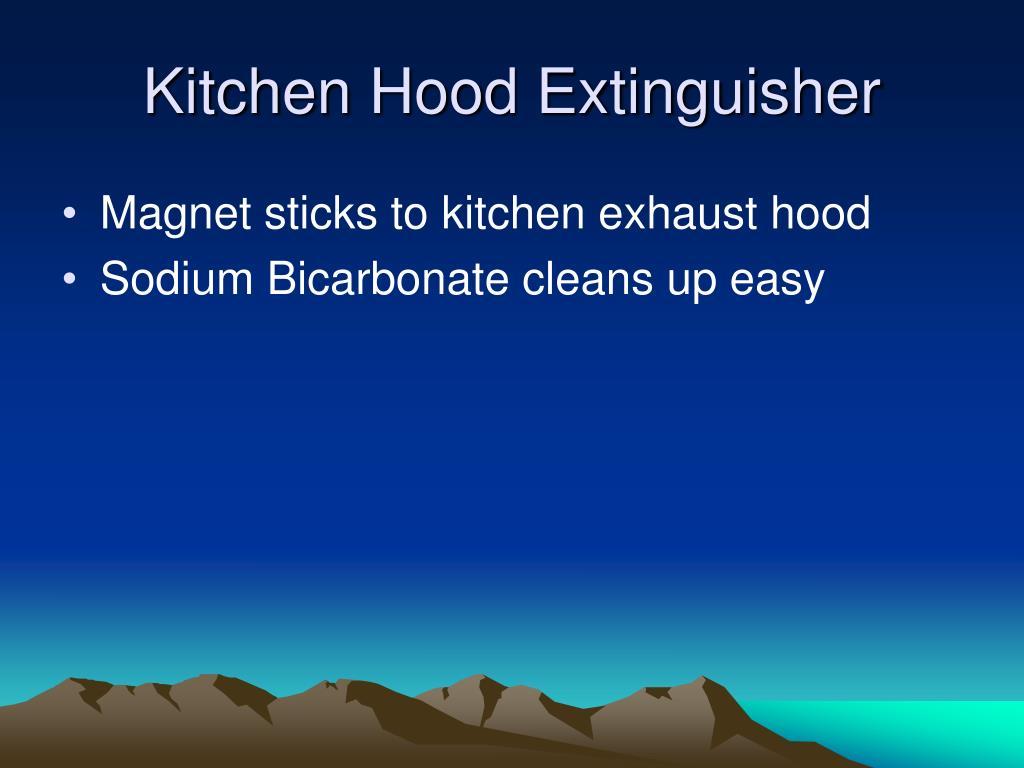 Kitchen Hood Extinguisher