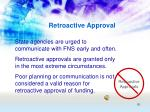 retroactive approval