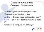 disability awareness common statements