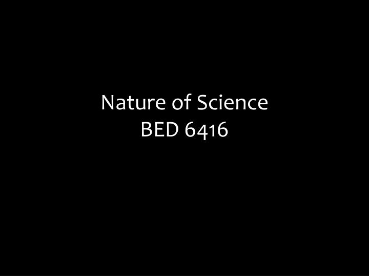 Nature of science bed 6416