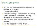 deleting properties