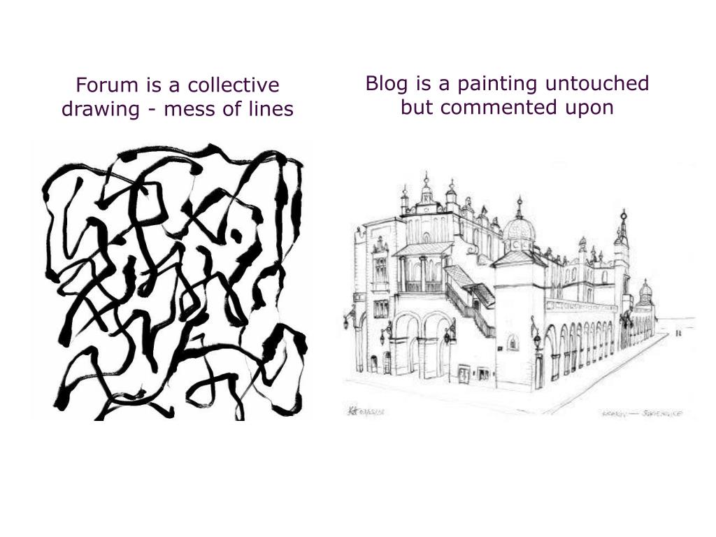 Forum is a collective drawing - mess of lines
