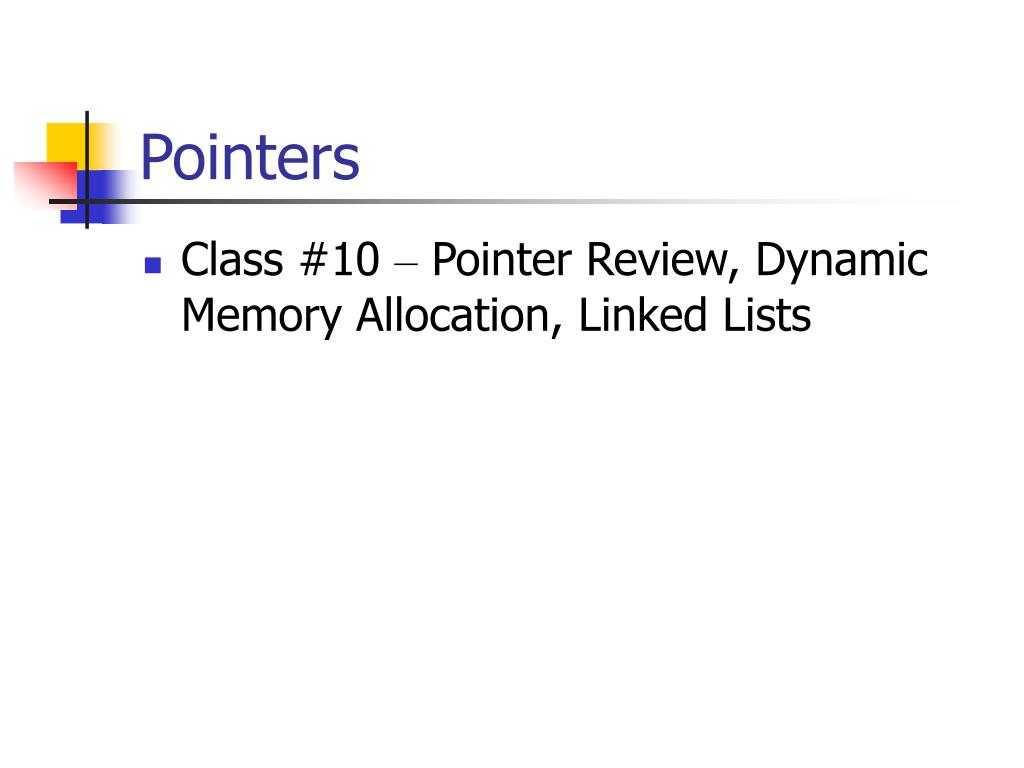 pointers l.