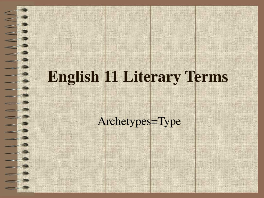 english 11 literary terms l.