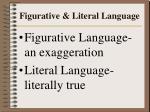 figurative literal language