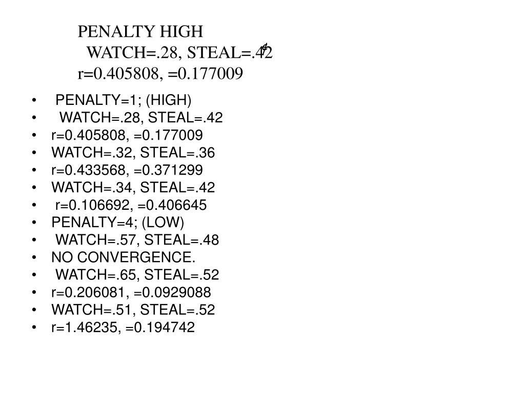 PENALTY HIGH
