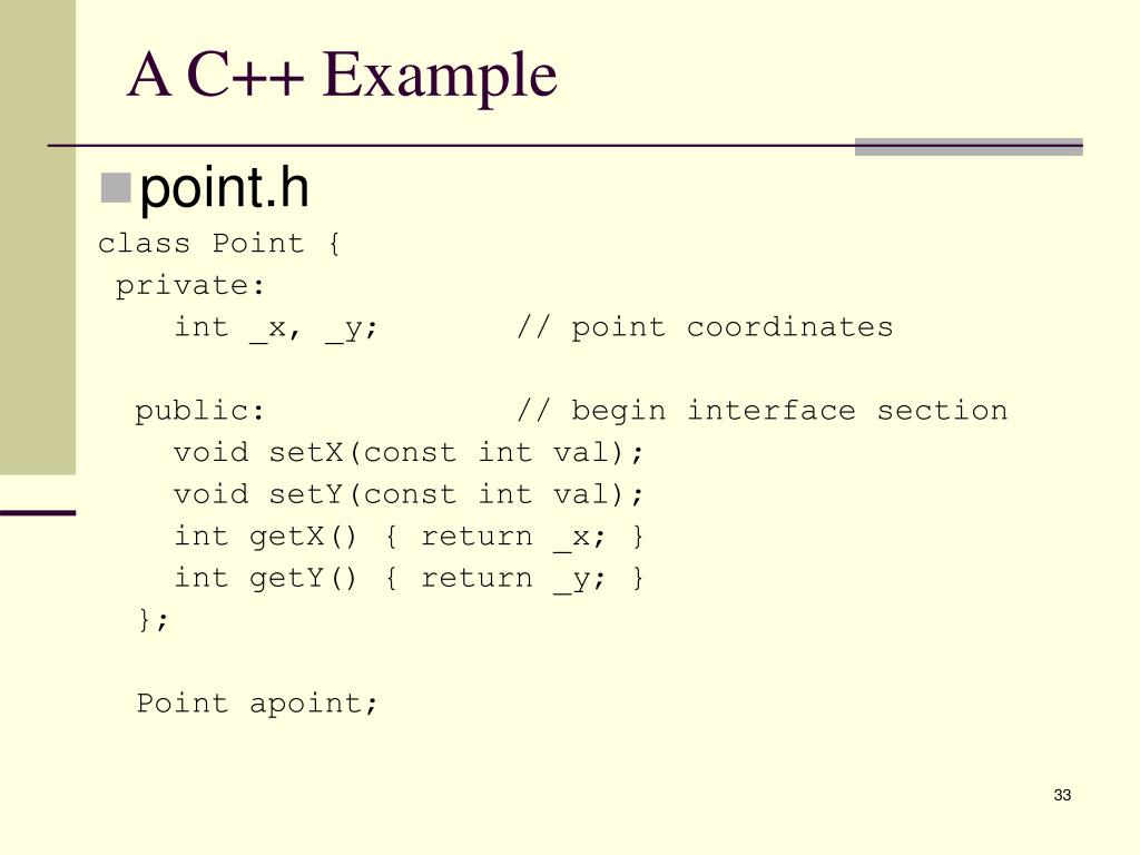 A C++ Example