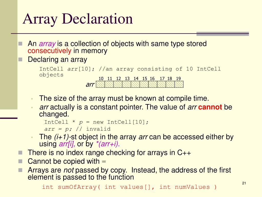 Array Declaration