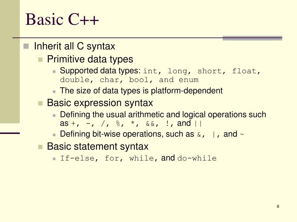 Basic C++