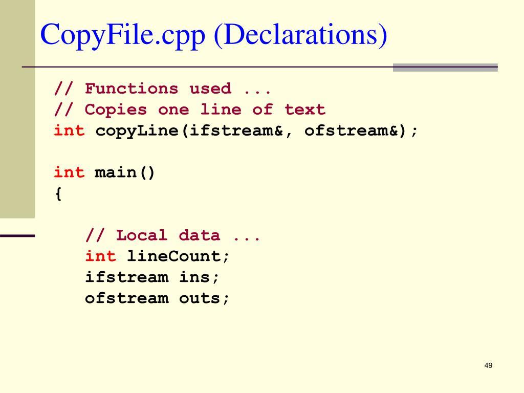 CopyFile.cpp (Declarations)