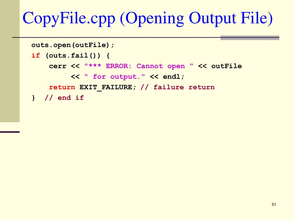 CopyFile.cpp (Opening Output File)