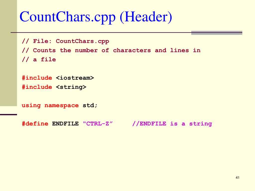 CountChars.cpp (Header)