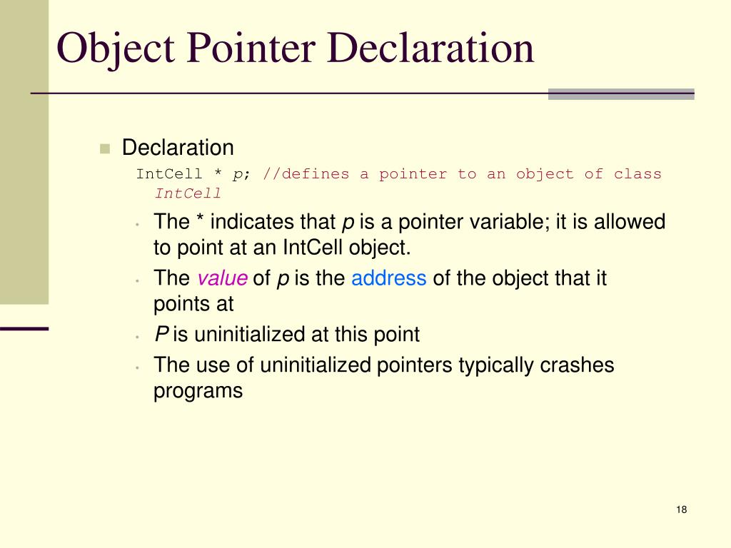 Object Pointer Declaration