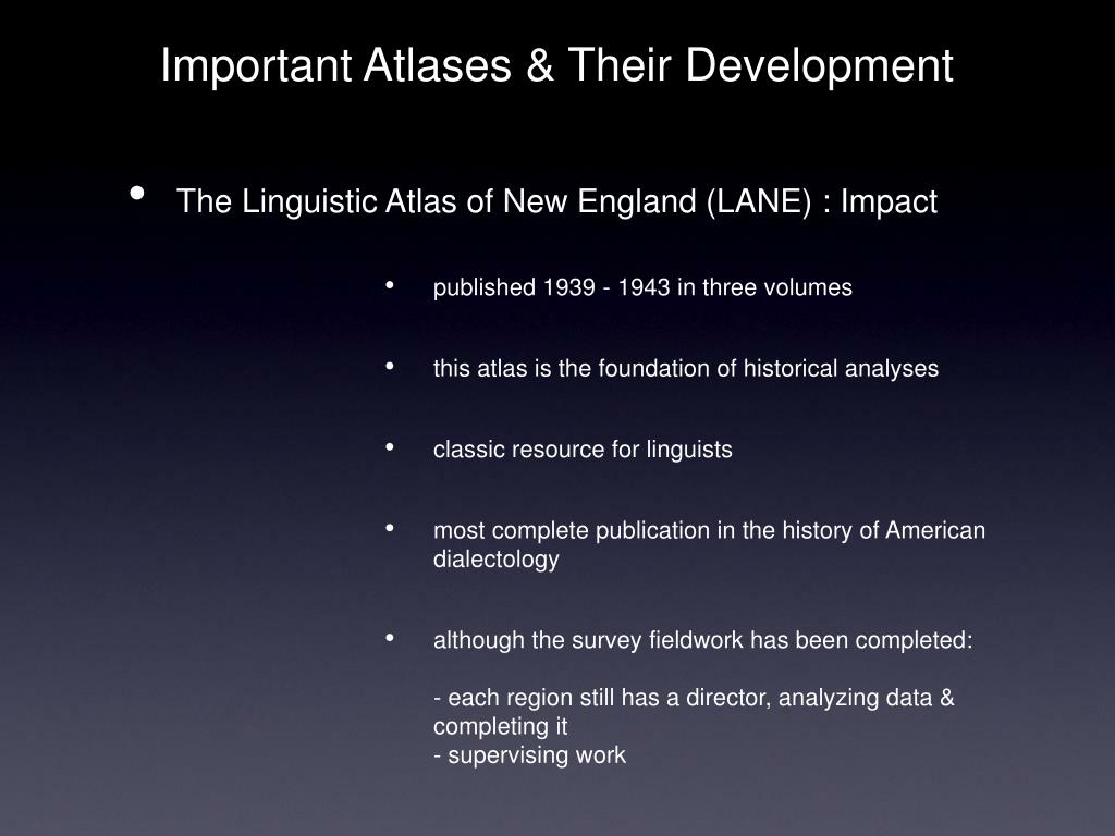 Important Atlases & Their Development