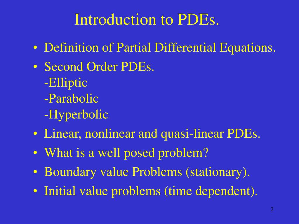Ppt Numerical Integration Of Partial Differential