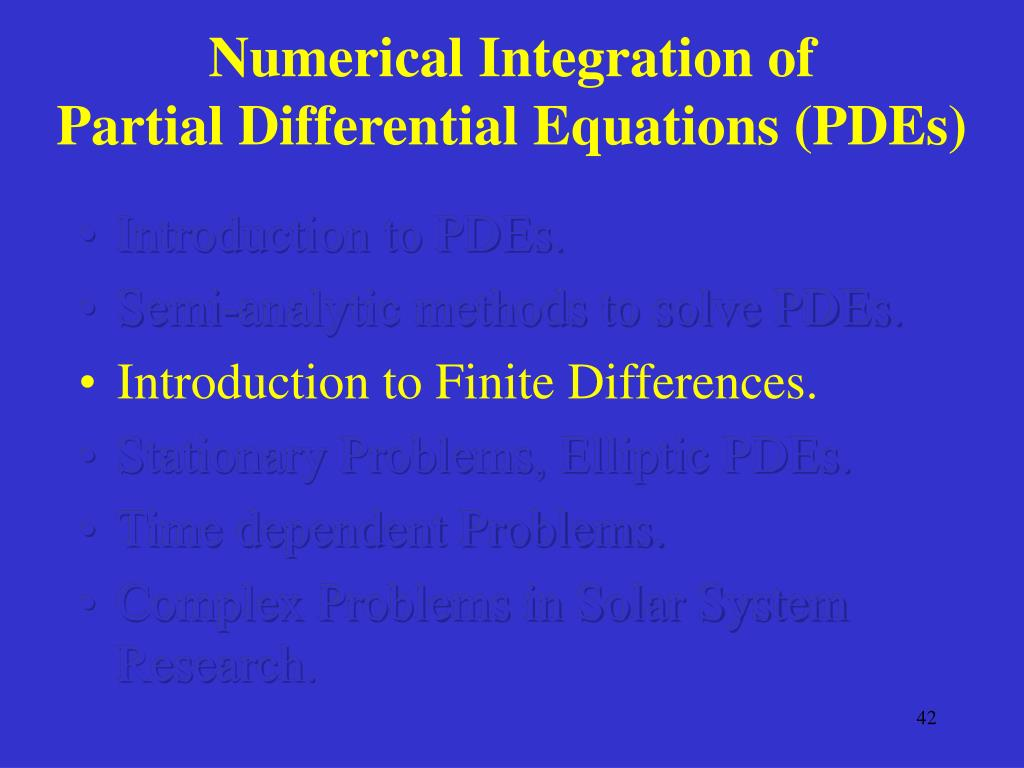 Numerical solution Of PDEs by The finite Element Method