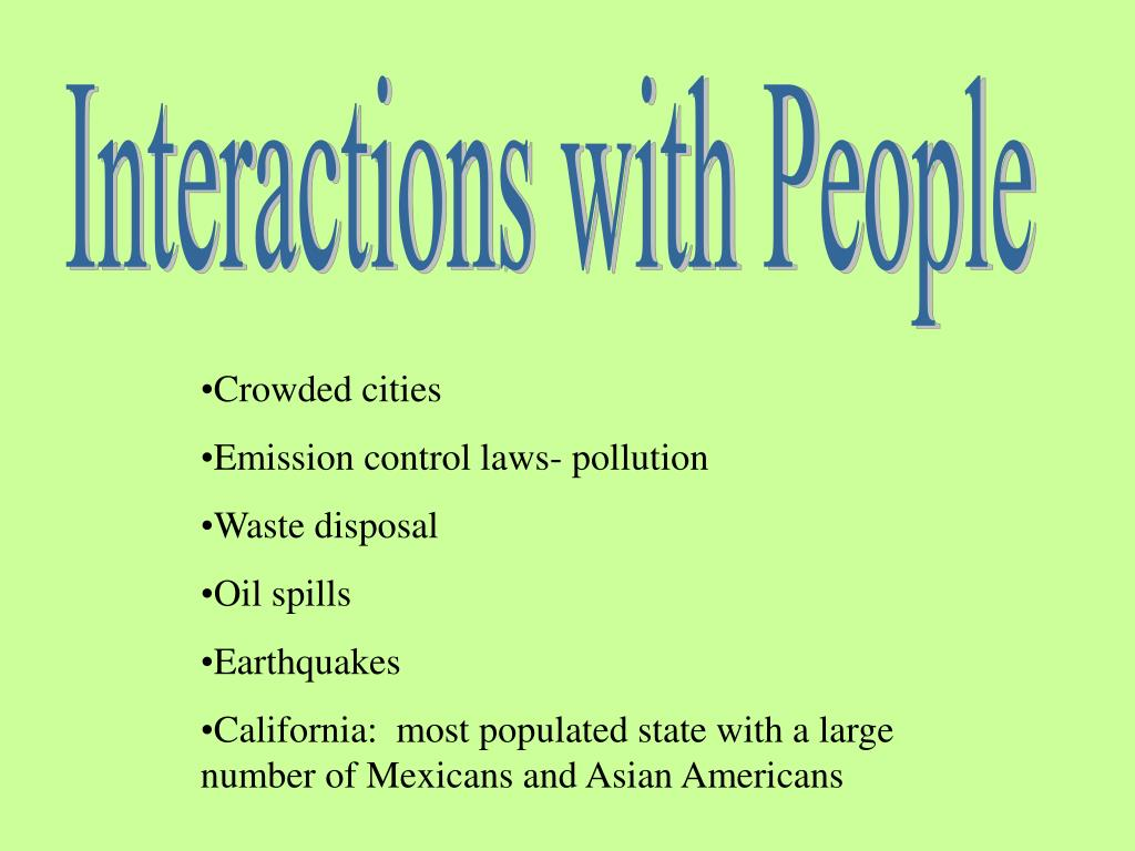 Interactions with People