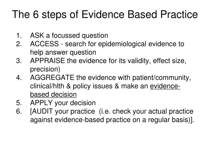 ecological validity of evidence based practice in Ecological validity perhaps the most salient aspect of context in risk assessment is what may be referred to as a problem of ecological validity often assessments are requested with considerable temporal distance between the point at which the assessment is made and the point at which a particular behaviour may or may not be.