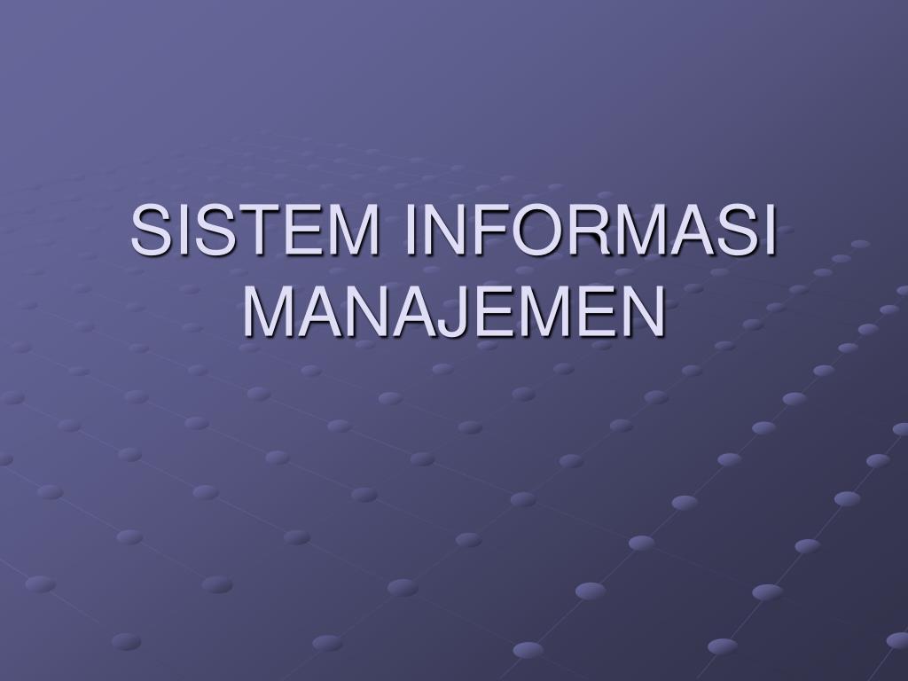 sistem informasi manajemen l.