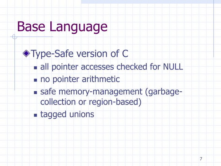 Base Language