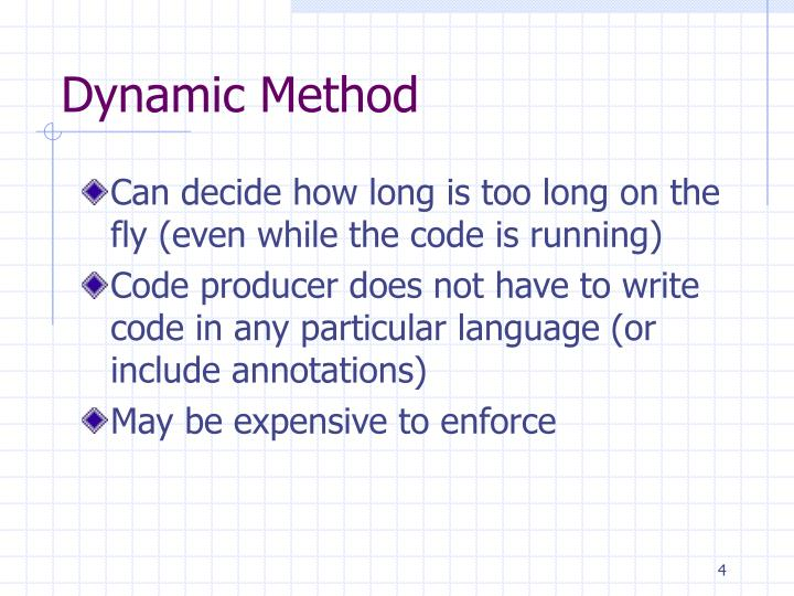 Dynamic Method