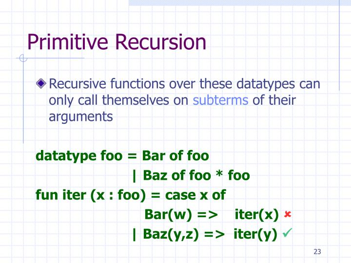 Primitive Recursion