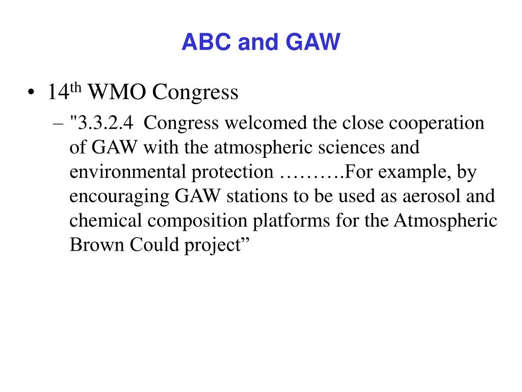 ABC and GAW