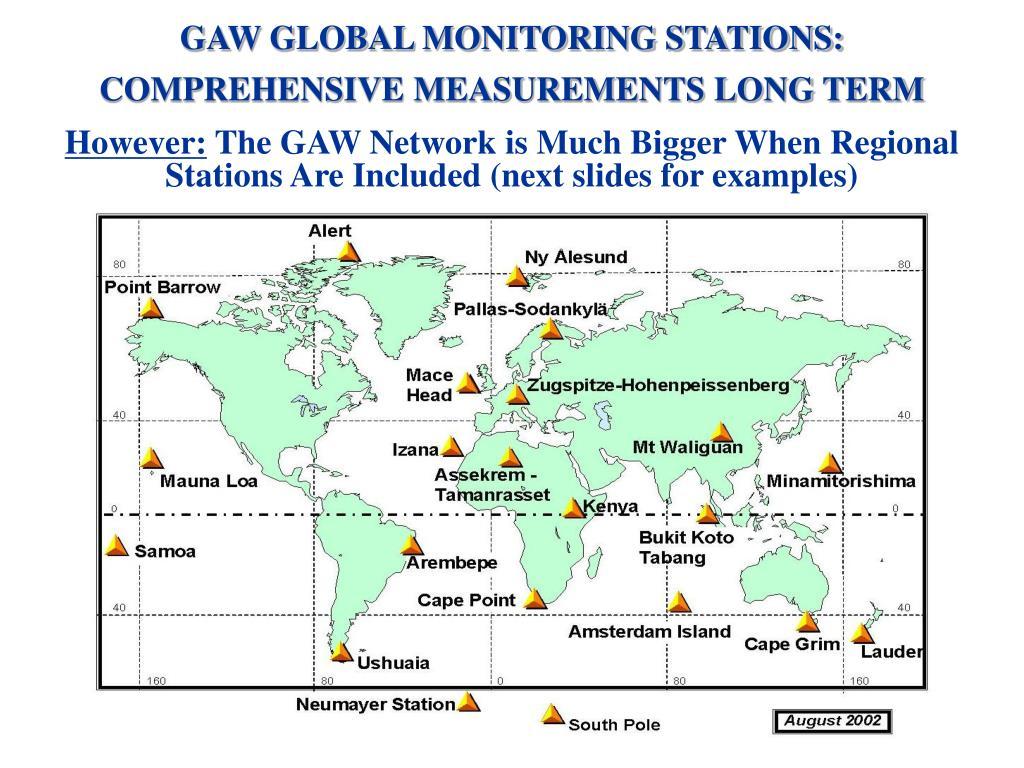 GAW GLOBAL MONITORING STATIONS: