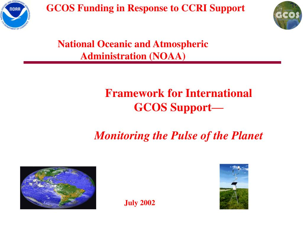 GCOS Funding in Response to CCRI Support