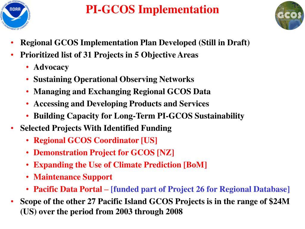 PI-GCOS Implementation