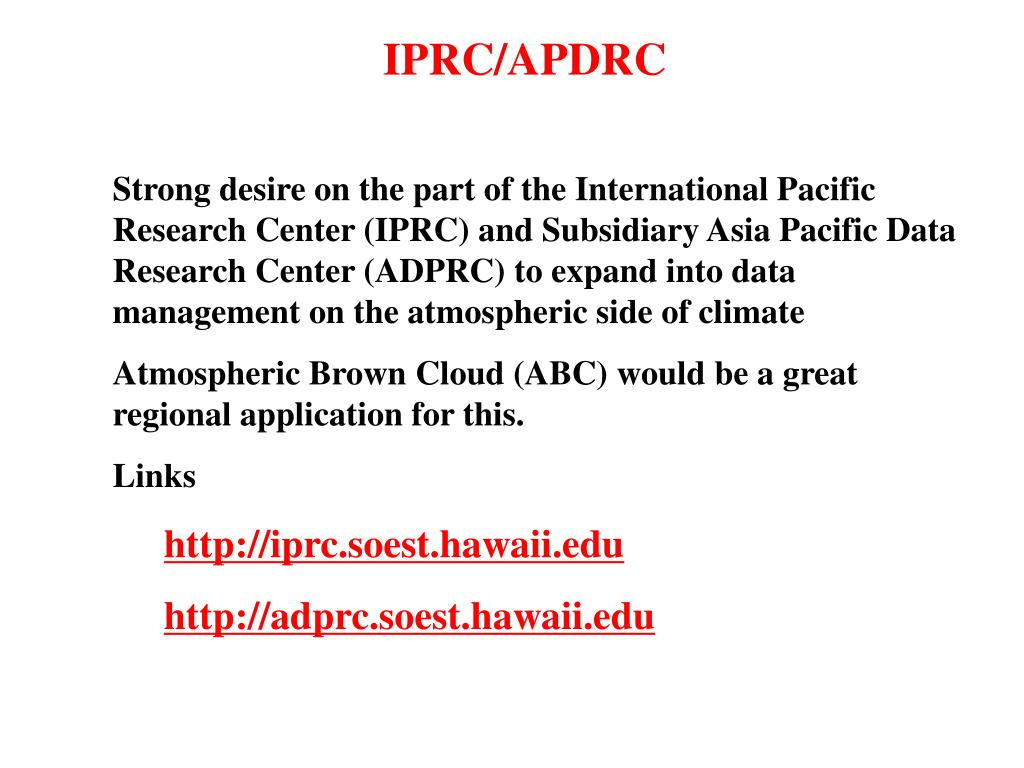 IPRC/APDRC