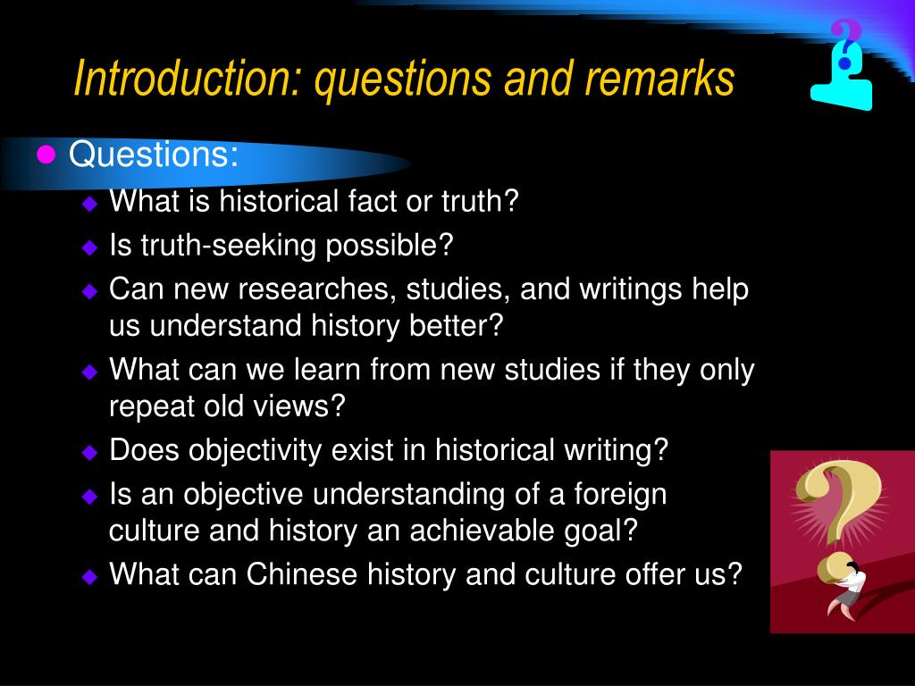 introduction questions and remarks l.