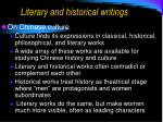 literary and historical writings