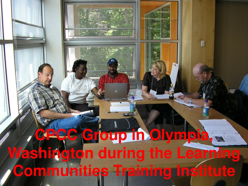 CPCC Group in Olympia, Washington during the Learning Communities Training Institute