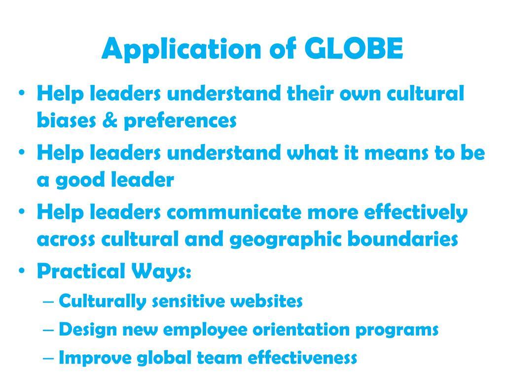 Application of GLOBE