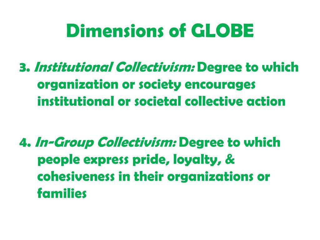 Dimensions of GLOBE