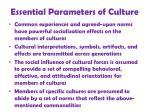 essential parameters of culture8