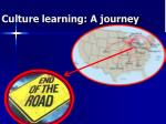 culture learning a journey